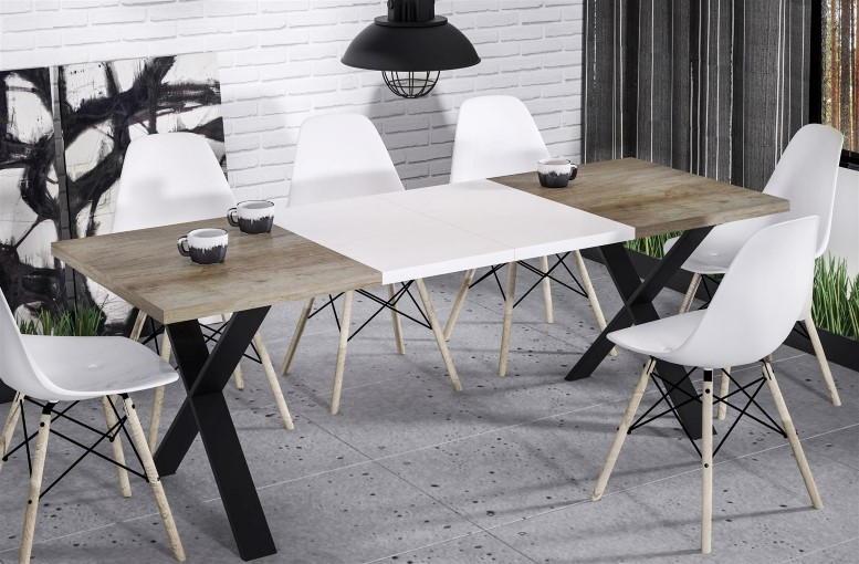 Stół kuchenny X z wkładkami